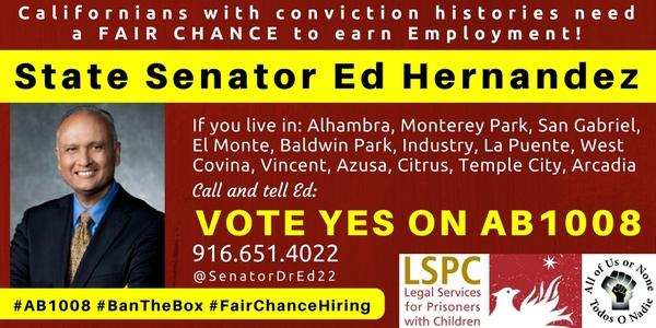 AB1008 - CA Senator Hernandez - 10ix17