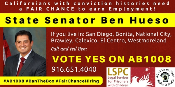 AB1008 - CA Senator Hueso - 10ix17
